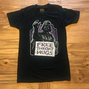 """Darth Vader """"Free Throat Hugs"""" Star Wars t-shirt"""